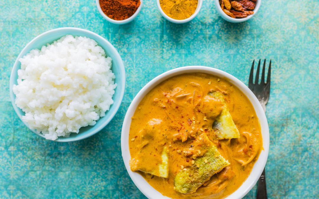 MARMITE DE POISSON AU LAIT DE COCO ET CURRY